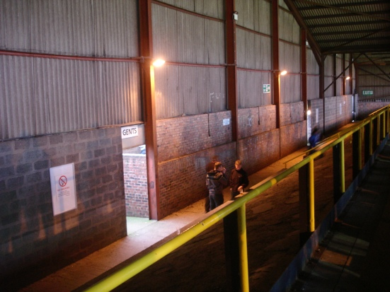 Inside the cavernous Warwick Road End